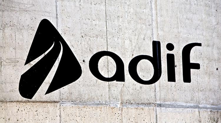 Logotipo de Adif.