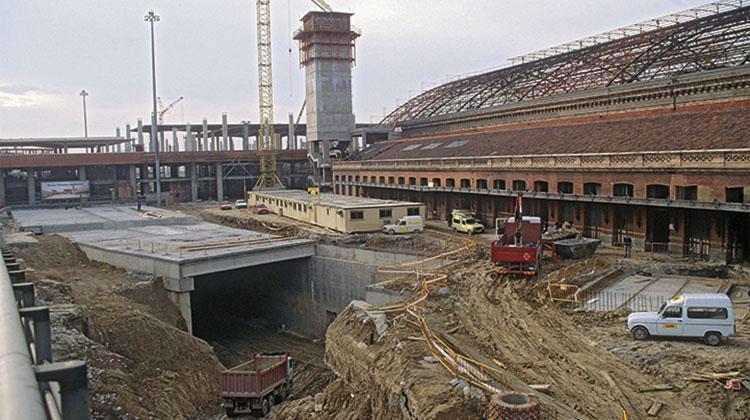 La estación de Atocha en obras. / RENFE (R)