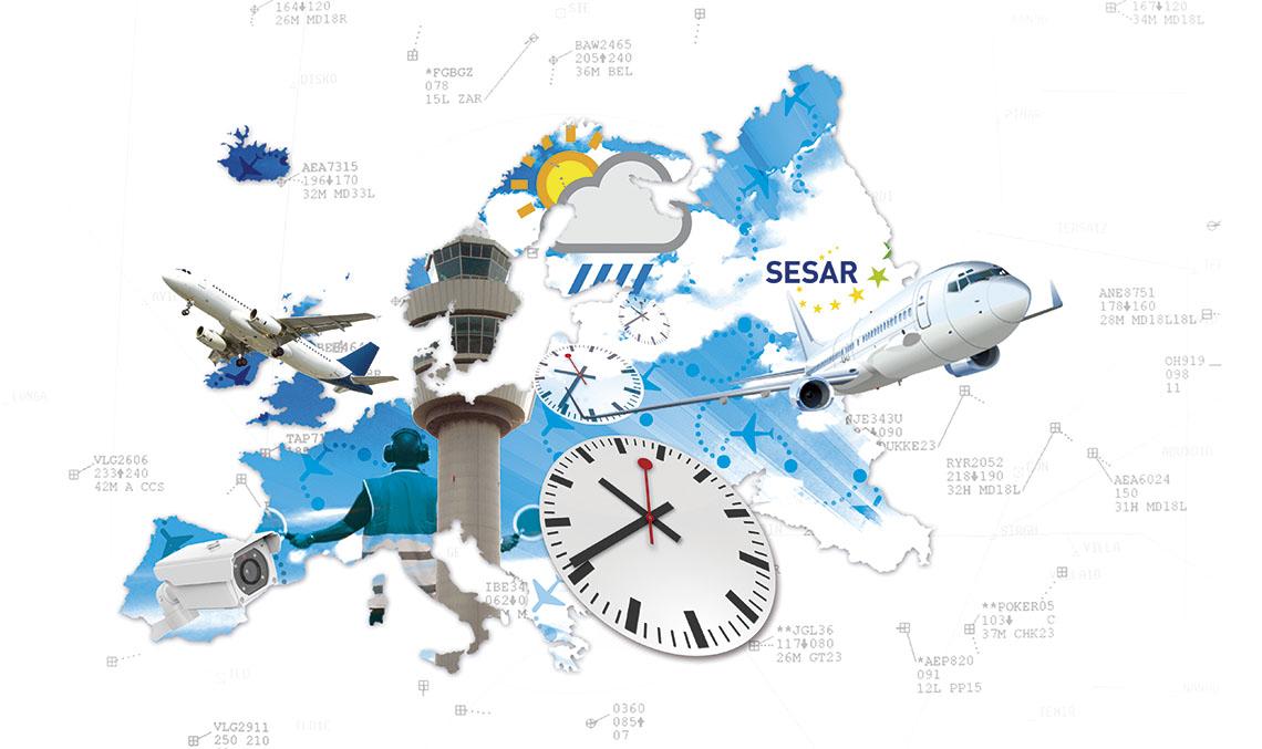 MEDIDAS PRIORITARIAS. La UE considera prioritario mejorar la gestión del espacio aéreo europeo aumentando la seguridad y el número de operaciones, y reduciendo los costes asociados y el impacto ambiental de cada vuelo. / ILUSTRACIÓN_ANA LAGO