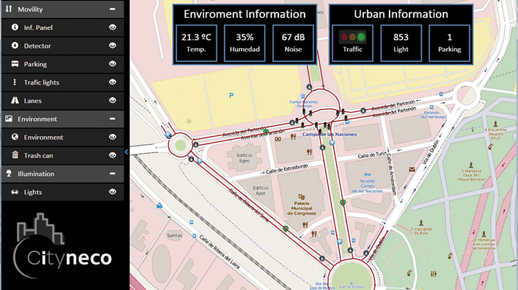 UNA PLATAFORMA NOVEDOSA. Además de la información de los sensores, la plataforma Cityneco analiza la información proveniente de datos de telefonía móvil, GPS e incluso redes sociales, lo que enriquece la información de estado de la movilidad en la ciudad.